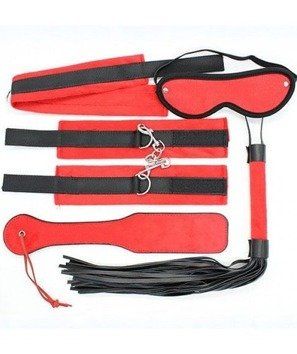 Komplet zniewolenia Bondage kit red